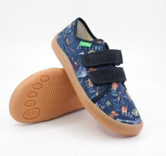 Detské barefoot plátenky Froddo G1700302-1 BLUE