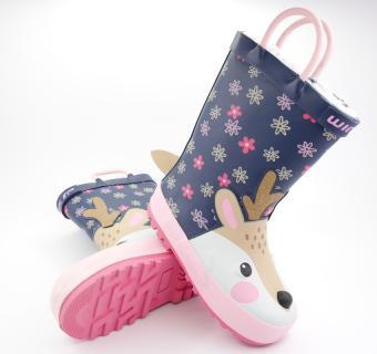 Detské zateplené gumáky Wink BD12511 Pink Deer