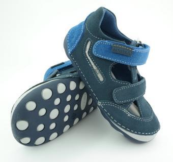 Detské letné barefoot topánky Protetika Flip Marine