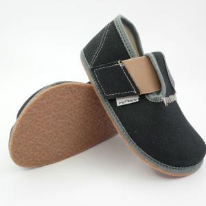 PEGRES barefoot papuče BF01 čierna