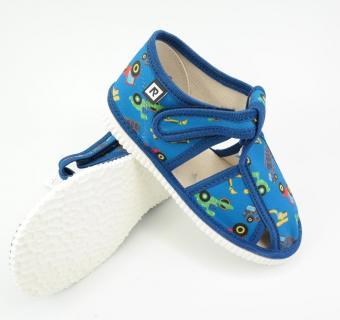 Detské papuče RAK 100015 - Modré stroje