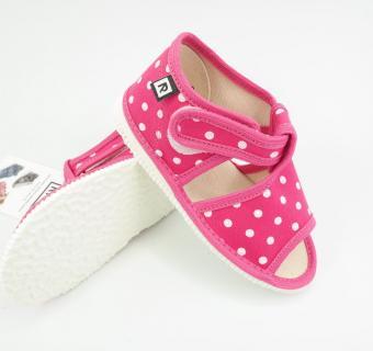 Detské papuče RAK 100014-3 - Ružová bodka