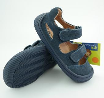 Detské letné barefoot topánky Protetika Berg Marine