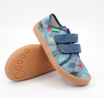 Detské barefoot plátenky Froddo G1700302 DENIM