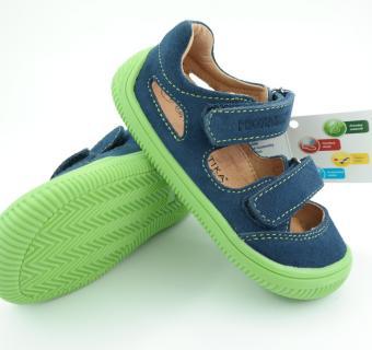 Detské letné barefoot topánky Protetika Berg Denim