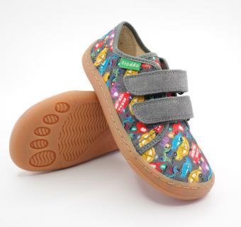 Detské barefoot plátenky Froddo G1700302-9 GREY