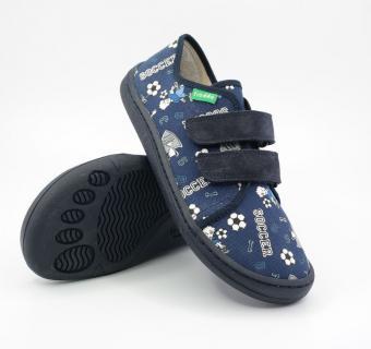 Detské barefoot plátenky Froddo G1700283-6 BLUE