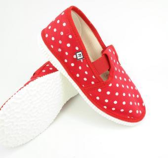 Detské papuče RAK 943022 - Červená bodka