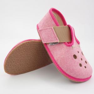 PEGRES barefoot papuče BF03 ružová