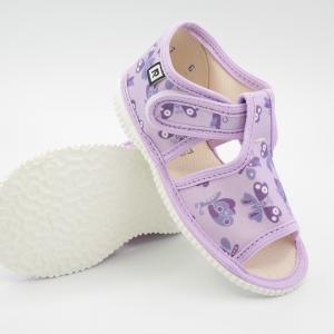 Detské papuče RAK 100014 - Fialový motýľ