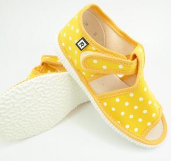 Detské papuče RAK 10014 - Žltá bodka
