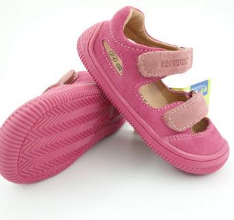 Detské letné barefoot topánky Protetika Berg Pink