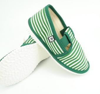 Detské papuče RAK 2-943022 - Zelený pásik
