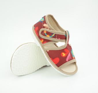 Detské papuče Milash - Hnedé, dúha - Deti kvetov – NÁDEJ