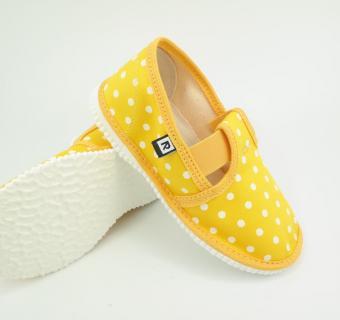 Detské papuče RAK 2-943022 - Žltá bodka