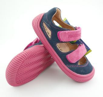 Detské letné barefoot topánky Protetika Berg Blue