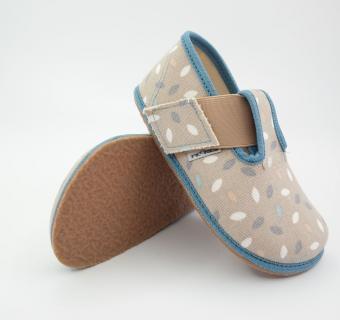 PEGRES barefoot papuče BF01 modrá
