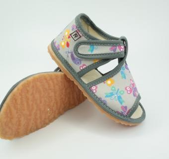 Detské inovatívne papuče RAK 100014-4 Šedý motýľ