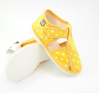 Detské papuče RAK 10015 - Žltá bodka