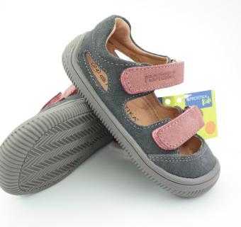 Detské letné barefoot topánky Protetika Berg Grigio