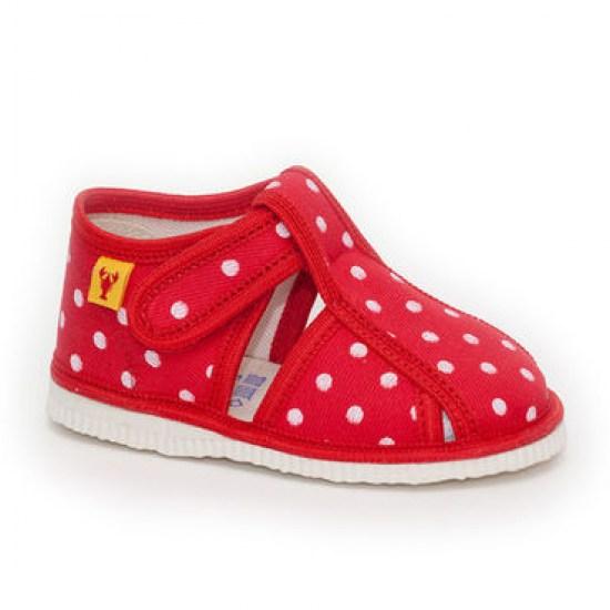Detské papuče RAK 100015 - Červená bodka - Papučky pre deti ... d012185942