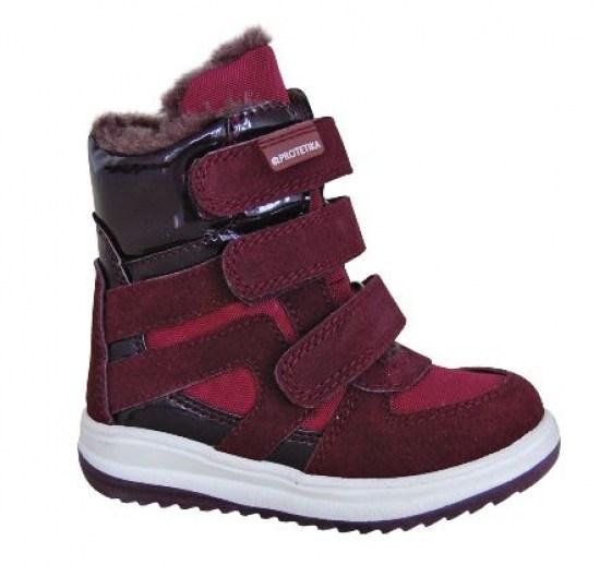 32dd9631674f Zimná detská obuv Protetika Ebony Bordo - Zimná obuv pre deti ...