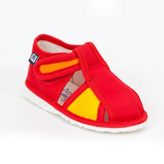 Detské papuče RAK 1-100015 - Červeno - žlté - Papučky pre deti ... 776462145d